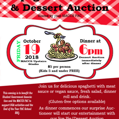 MACCS Celebrates Fall with Annual Spaghetti Dinner & Auction
